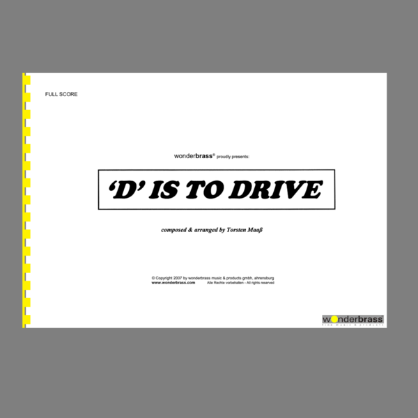 """D"" IS TO DRIVE [bigband]"