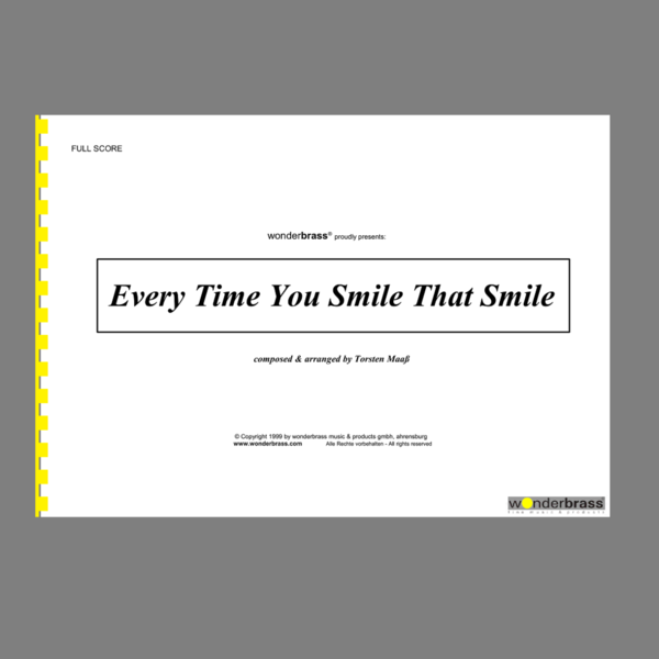 EVERY TIME YOU SMILE THAT SMILE [bigband]